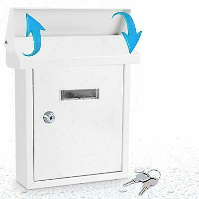 $28.75 • Buy Wall Mount Locking Mailbox Weatherproof With Metal Flap For Mail Insertion