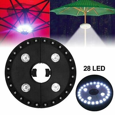 AU14.31 • Buy 28 LED Patio Umbrella Parasol Lights 3 Brightness Mode Outdoor Camping Lamps RE