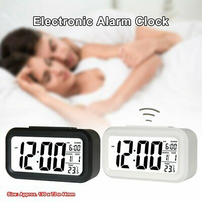 AU13.33 • Buy Digital LCD Snooze Electronic Alarm Clock With LED Backlight Light Control RE