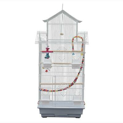 £29.99 • Buy 39  Bird Cage Canary Parakeet Cockatiel Budgie Parrot Cage 3 Toys Open Play Top