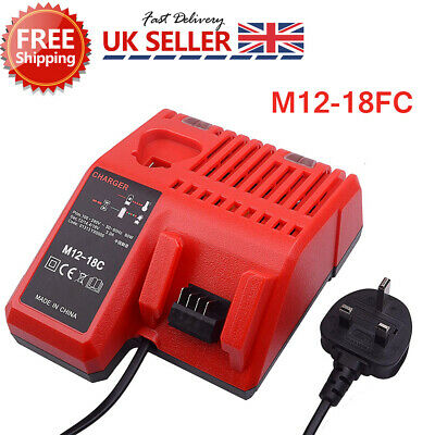 For Milwaukee M12-18FC 12-18V Rapid Fast Charger For M12 & M18 Batteries 240v UK • 21.59£