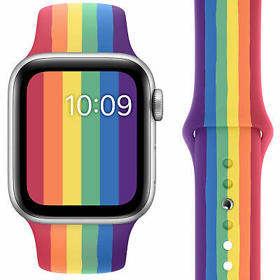 AU13.99 • Buy Pride Colorful Wrist Strap For Apple Watch Band 38/40mm 42/44mm Series 6 5 4 3 2
