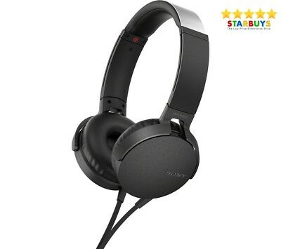 AU50.23 • Buy SONY Extra Bass On-ear Headphones - Black  MDR-XB550AP