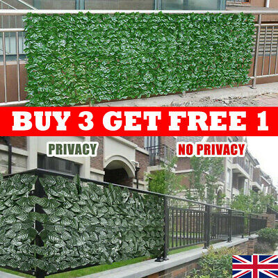 £7.39 • Buy Artificial Faux Ivy Leaf Hedge Panels Roll Privacy Screening Garden Fence UK