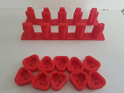 $ CDN46.14 • Buy 10 Pack 3D Printed Tool & Battery Holders Made For Milwaukee M12 Red