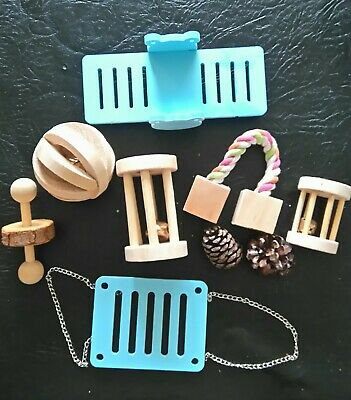 £7 • Buy Hamster Chew Toys, Wooden Bell Roller For Guinea Pig Bunny Rat And Accessories