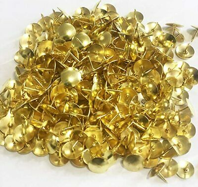 £1.75 • Buy 100 X Brass Drawing Pins Strong Metal - Gold Colour