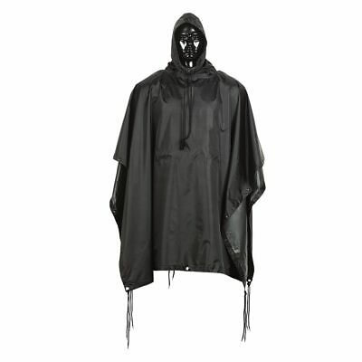 $30.99 • Buy BLACK Military Tactical Style All Weather Poncho Raincoat Ripstop Nylon 53 X 84