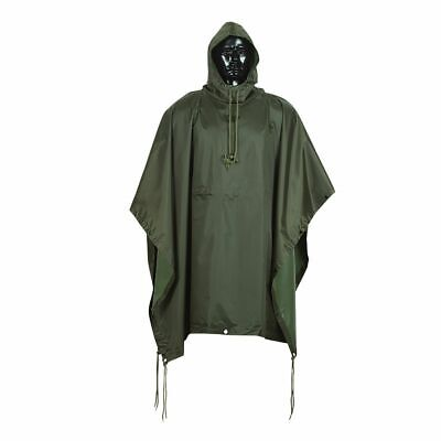 $30.99 • Buy OD Military Tactical Style All Weather Poncho Raincoat Ripstop Nylon 53 X 84