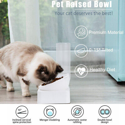£10.99 • Buy Elevated Raised Pet Cat Dog Puppy Feeder Bowls Food Stand Water Feed Station