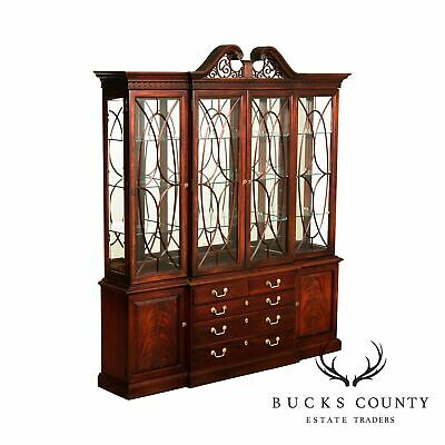 $2395 • Buy Thomasville Mahogany Collection Chippendale Style Breakfront, China Cabinet