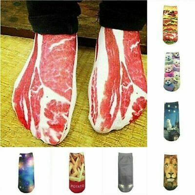 £2.99 • Buy SILLY SOCKS Novelty Funny Imitation Gift Low Cut Ankle Socks Bacon Meat Cat