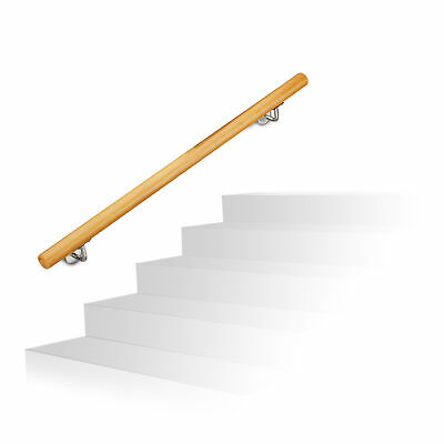 £95.90 • Buy Wooden Handrail, Stair Banister Up To 2 M, Wall-Mounted Balustrade Railing