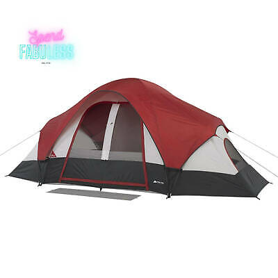 AU196.34 • Buy 8 Person Modified Dome Tent W/ Rear Window Portable Outdoor Family Camp Shelter