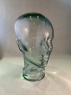 £49.99 • Buy Vintage Green Solid Glass Mannequin Shop Retail Display Show Head