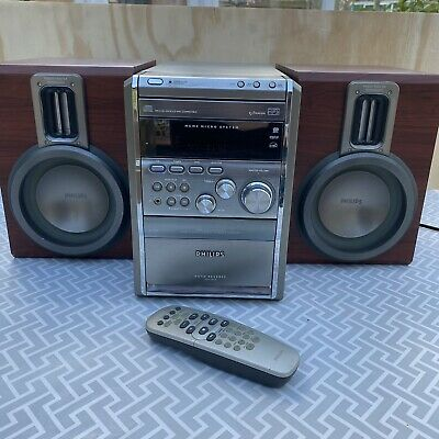 £64.99 • Buy Philips MCM8/22 Silver Micro System CD Radio Tape Hi-Fi Aux MP3 Speakers Remote