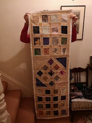 Indian Embroidered Beaded Wall Hanging Ethnic Oriental Tapestry Handmade • 25£
