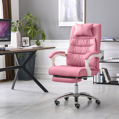 £85.99 • Buy Pink Office Chair Computer Desk Swivel Recliner Work Chair Padded Seat Chair