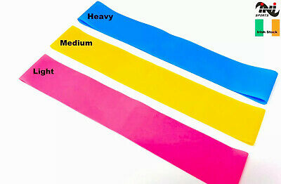 $ CDN8.81 • Buy INI Resistance Bands Exercise Loop Crossfit Strength Weight Training Fitness 3pc