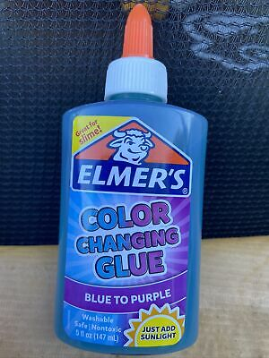 AU18 • Buy New Elmers Colour Changing  Glue Blue  To Purple  147ml Free Post (acc308)