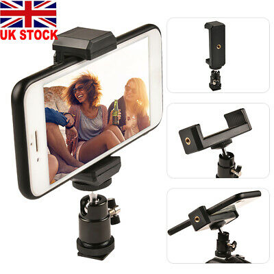 Smartphone Tripod Adapter Cell Phone Holder Mount For IPhone Camera Universal • 5.75£