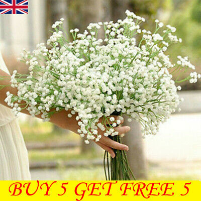 £3.39 • Buy Artificial Gypsophila Baby's Breath Fake Flower Home Wedding Party Decor UK