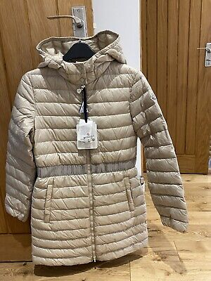 £249 • Buy New Moncler Girls Jacket  Coat 14 Years , Beige, Feather Down, Genuine,run Small