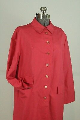 $ CDN48.57 • Buy VTG 60s Car Coat Shannon Rodgers Trench Size Large Coral Pink Lightweight Jacket