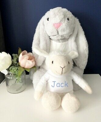 £16 • Buy Personalised Easter Gift, Lamb Cuddly Toy, Lamb Plush, Gifts For Children