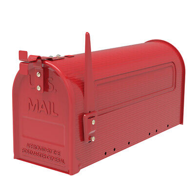$34.17 • Buy Extra-Large Capacity Iron Post Mount Mailbox Outdoor Letter Storage Rural Style