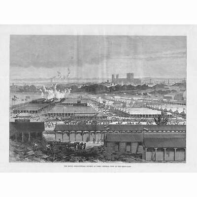 £12.95 • Buy YORK View Of The Royal Agricultural Society Show Yard - Antique Print 1883