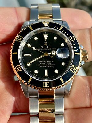 $ CDN17953.63 • Buy Rolex Submariner 16613 Stainless Steel & 18k Yellow Gold Black Dial 2005 Mint