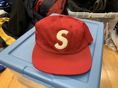 $ CDN90.99 • Buy Supreme Red S Logo Hat Strap Back Authentic Used VTG Vintage Retro OG White