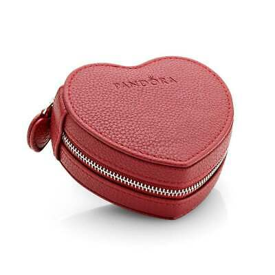 AU39 • Buy Authentic Pandora RED Heart-shaped Jewellery Box Case Limited Edition Cute.