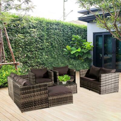 Rattan Corner Garden Furniture Outdoor Sofa Table Set 8 Seater With Free Cover • 999.95£