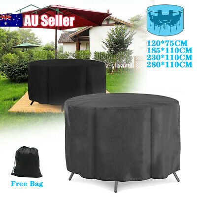 AU19.59 • Buy Large Round Waterproof Outdoor Garden Patio Table Chair Set Furniture Cover AU
