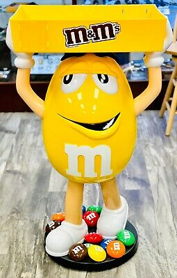 $285 • Buy Yellow MARS CANDY M&M 45  Candy Store Display Holds Goods Smalls Whimsical  🔥🔥
