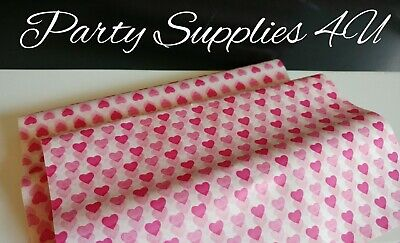 £2.99 • Buy Heart Greaseproof Paper Food/Wax/Sandwich/Wrapping/Tea Party/Love/Valentine X 10