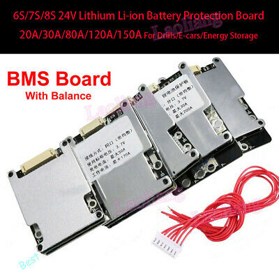 AU15.92 • Buy New 6S 7S 24V Lithium Li-ion LFP LiFePo4 Battery Protection BMS Board W/ Balance