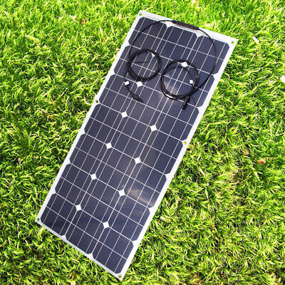 £89.99 • Buy 12V100W Semi Flexible Mono Solar Panel TUV ISO SunPower Cell For Camping Vehicle