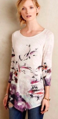 $ CDN53.52 • Buy Anthropologie KNITTED & KNOTTED Morning Walk Koi Fish Sweater Womens Small