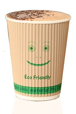 AU60 • Buy Compostable Disposable Insulated HOT Coffee Cups 500 Biodegradable 8,12,16 Oz