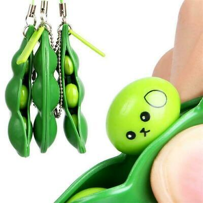 £2.35 • Buy Pea Popper Stress Relief Anti-Anxiety Toy - Autism ADHD Keyring Squeeze Bean 1x