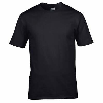 Gildan Premium T-Shirt TOP TEE COTTON RINGSPUN SHIRT Multiple Colours • 2.99£