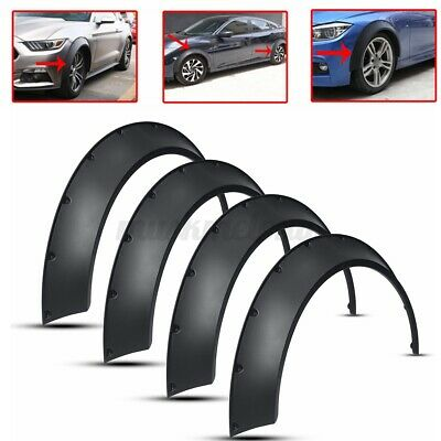 $55.76 • Buy 4x 3.5'' Flexible Fender Flares Extra Wheel Arches Cover For Mitsubishi Lancer