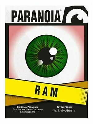 £13.99 • Buy Paranoia RPG The RAM Card Deck Roleplaying Game Supplement Mongoose Publishing