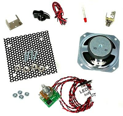 $ CDN56.84 • Buy 2.5 Watt Parts Only DIY Amplifier Kit With All-Wood Box & Pre-wired Leads
