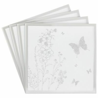 £6.99 • Buy Set Of 4 MirrorGlitter  Butterfly Sparkle Coasters #LP46568