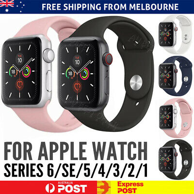 AU4.98 • Buy Sport Silicone Strap Band 38 40 42 44mm For Apple Watch Series SE 6 5 4 3 2 1 AU