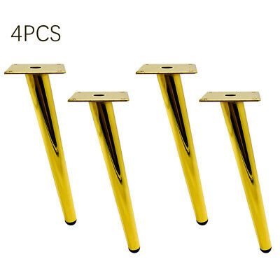 £16.76 • Buy 4Pcs Furniture Legs Oblique Tapered Modern Retro Couch Sofa Cabinet Feet Metal